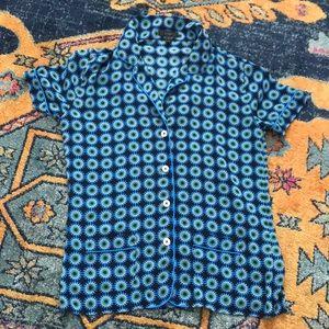 J.Crew: Short Sleeved PJ Style Cuffed Button Shirt